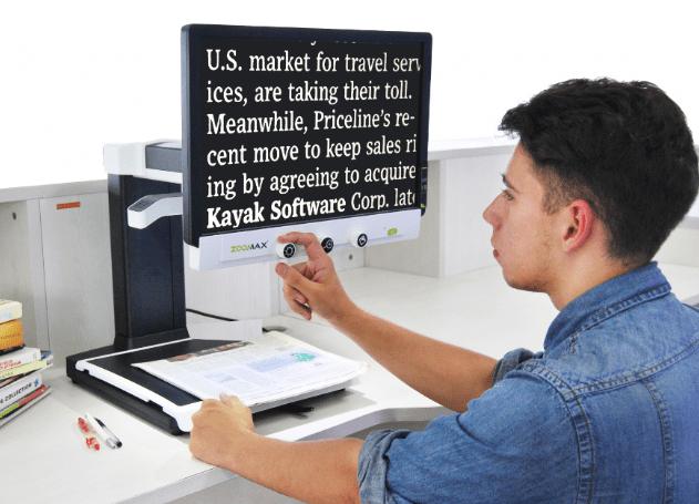 Zoomax Panda Desktop Video Magnifier for Low Vision
