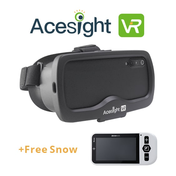 Electronic Glasses For Low Vision Acesight Vr + Handheld Video Magnifier Snow 4.3 Zoomax For Education