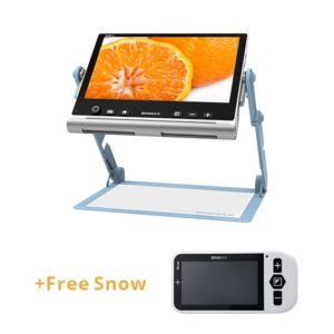 Portable Video Magnifier Snow 12 + Handheld Video Magnifier Snow 4.3 Zoomax For Education